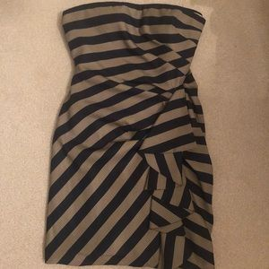 BCBG striped mini dress